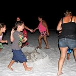 Volcano party on the beach