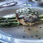 Crab Cake and Asparagus - yummy