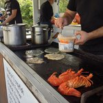 The Seafood Kiosk's al fresco kitchen