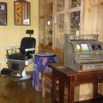 Loved the old barber chair & cash register