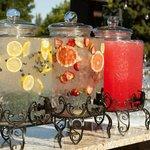 Summer time wedding drink station - HGI Weddings