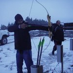 Archery in the snow!
