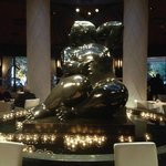 Intriguing Sculpture as Restaurant Centerpiece