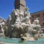 Fontane del 4 Fiumi, Piazza Navona