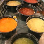 Salsa selection with nachos