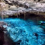 Cenote Dos Ojos. A true cave cenote and the coldest that we swam at.