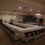 Salón de Usos Multiples montado para evento