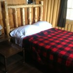 All bedrooms have log beds