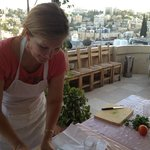 A lovely patio to cook on with a beautiful view of Amman