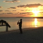 clarinet and champagne at sunset each night