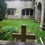 Interior courtyard of friary