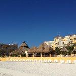 F.A. Condesa Cancun - view from beach