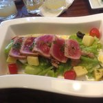 nicoise salad with fresh lovely tuna