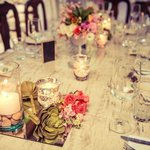 The wedding party table