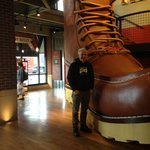 giant red wing boot