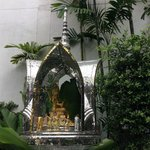 A Thai shrine outide hotel grounds