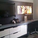 Modern decor in room