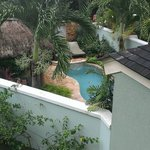 "View of ""private"" plunge pool from nearby stairs, Millionaire suite, Negril."