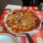 sausage and hot banana pepper pizza