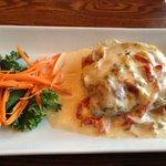 Vegetarian Lasagna from May dinner, Dalton's     1715 Wellington Ave. (Greenwood Inn), Winnipeg,