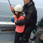 "niece reeling the ""big"" fish in"