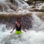 my better half susan enjoying her time in dunn's river waterfall, ocho rios jamaica. march 1, 20