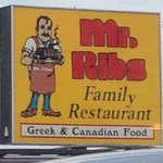 Out door sign for Mr. Ribs  |  Main St. SW, Neepawa, Manitoba, Canada