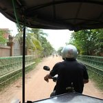 Road to the hotel with complementary tuk tuk