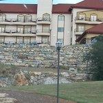 closeup of hotel