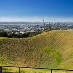 Mount Eden offers great panoramic views across the Auckland region