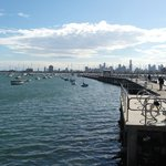 St. Kilda Beach View of Downtown Melbourne