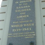WWII plaque on side of Victory Arch, Ballarat