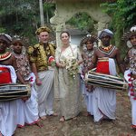 with the Kandyan dancers and musicians
