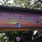 Outdoor signage, Coconutz Sports Bar & Eatery  |  Main St, Playas del Coco 5019, Costa Rica