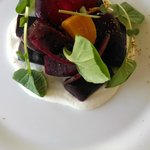 The yummy beet salad
