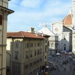 View of the Duomo out the side window