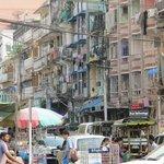 Downtown Yangon. Opposite Bogyoke Market Entrance.