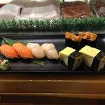 second round: masunosuke, hotate, tamago & uni