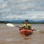 Kayaking in the Tambopata River