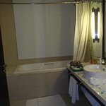 View of bathroom from toilet