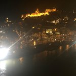 view from our terrace to the NIGHT  old Tbilisi
