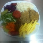 Steak with blackpeaper sauce chef's special..