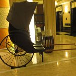 A Rickshaw By The Elevators.