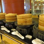 A Big Assortment of Dim Sum for Breakfast.