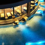 Outdoor thermal swimming pool and hydromassages