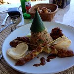 Nasi Goreng!! Even wears it's own party hat!!