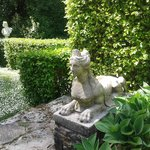 Gorgeous Sphinx statues at Glenveagh