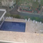 View of pool from Room 504 to the left from window