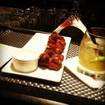 Chicken wings and a Cocktail