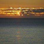 Sunrise each morning is spectacular